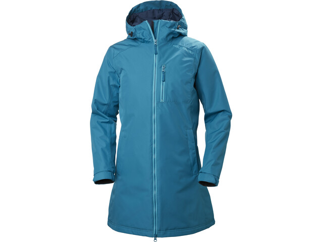 Helly Hansen Belfast Lange Winterjacke Damen blue wave